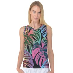 Leaves Tropical Jungle Pattern Women s Basketball Tank Top