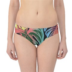 Leaves Tropical Jungle Pattern Hipster Bikini Bottoms