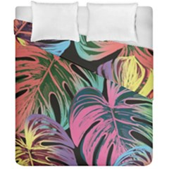 Leaves Tropical Jungle Pattern Duvet Cover Double Side (california King Size)