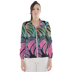 Leaves Tropical Jungle Pattern Windbreaker (women)