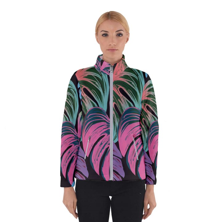 Leaves Tropical Jungle Pattern Winter Jacket