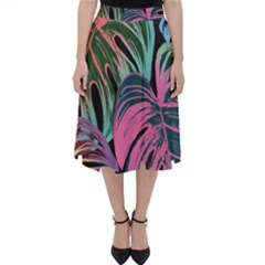 Leaves Tropical Jungle Pattern Classic Midi Skirt