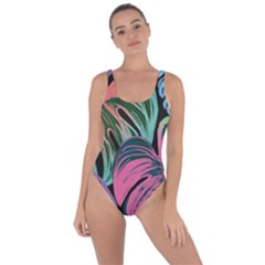 Leaves Tropical Jungle Pattern Bring Sexy Back Swimsuit