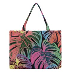Leaves Tropical Jungle Pattern Medium Tote Bag