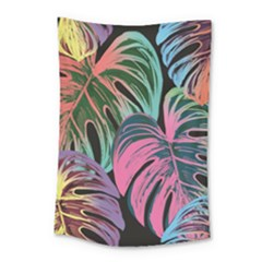 Leaves Tropical Jungle Pattern Small Tapestry