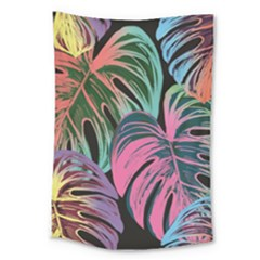 Leaves Tropical Jungle Pattern Large Tapestry