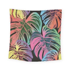 Leaves Tropical Jungle Pattern Square Tapestry (small)