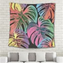 Leaves Tropical Jungle Pattern Square Tapestry (Large) View2