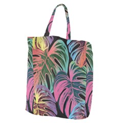 Leaves Tropical Jungle Pattern Giant Grocery Tote