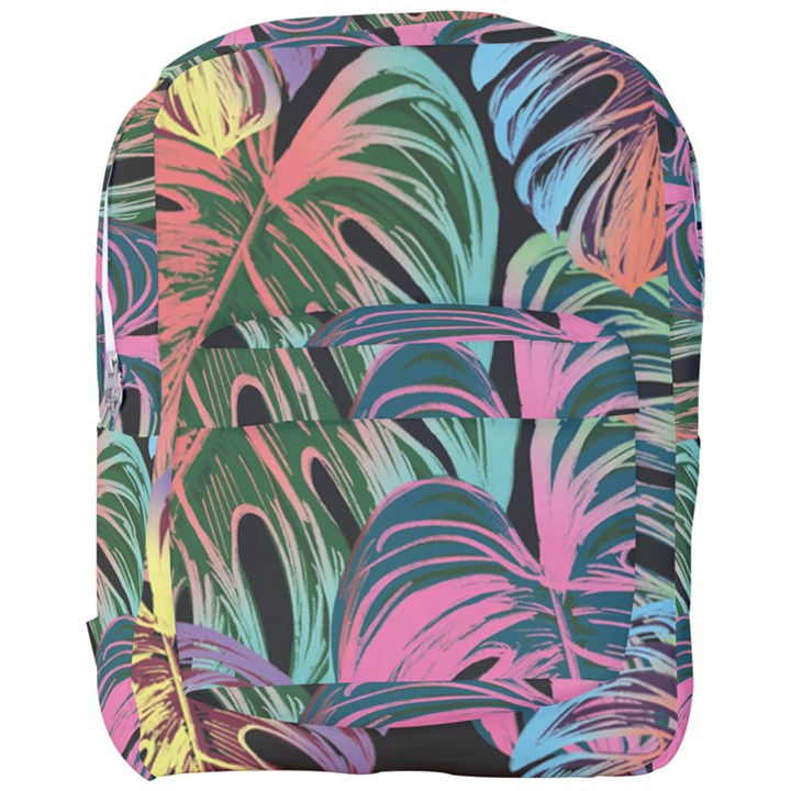 Leaves Tropical Jungle Pattern Full Print Backpack