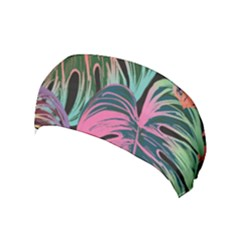 Leaves Tropical Jungle Pattern Yoga Headband