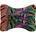 Leaves Tropical Jungle Pattern Velour Seat Head Rest Cushion View2