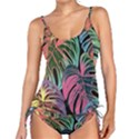 Leaves Tropical Jungle Pattern Tankini Set View1