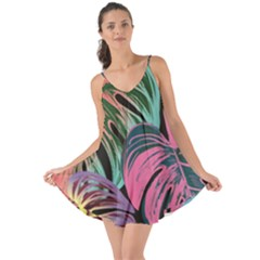 Leaves Tropical Jungle Pattern Love The Sun Cover Up