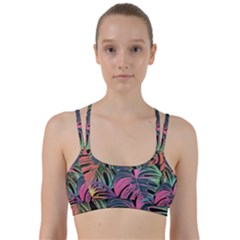 Leaves Tropical Jungle Pattern Line Them Up Sports Bra