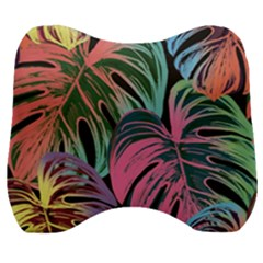 Leaves Tropical Jungle Pattern Velour Head Support Cushion