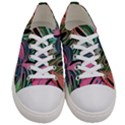 Leaves Tropical Jungle Pattern Women s Low Top Canvas Sneakers View1