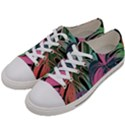 Leaves Tropical Jungle Pattern Women s Low Top Canvas Sneakers View2