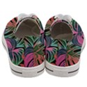 Leaves Tropical Jungle Pattern Women s Low Top Canvas Sneakers View4