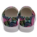 Leaves Tropical Jungle Pattern Men s Canvas Slip Ons View4