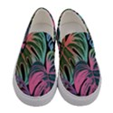 Leaves Tropical Jungle Pattern Women s Canvas Slip Ons View1