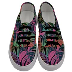 Leaves Tropical Jungle Pattern Men s Classic Low Top Sneakers