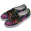Leaves Tropical Jungle Pattern Men s Classic Low Top Sneakers View2