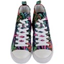 Leaves Tropical Jungle Pattern Women s Mid-Top Canvas Sneakers View1