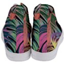 Leaves Tropical Jungle Pattern Women s Mid-Top Canvas Sneakers View4