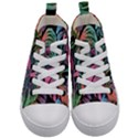 Leaves Tropical Jungle Pattern Kid s Mid-Top Canvas Sneakers View1
