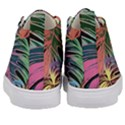 Leaves Tropical Jungle Pattern Kid s Mid-Top Canvas Sneakers View4
