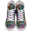 Leaves Tropical Jungle Pattern Women s Hi-Top Skate Sneakers View1