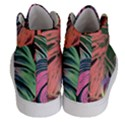 Leaves Tropical Jungle Pattern Women s Hi-Top Skate Sneakers View4