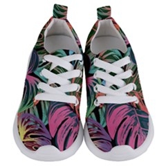 Leaves Tropical Jungle Pattern Kids  Lightweight Sports Shoes