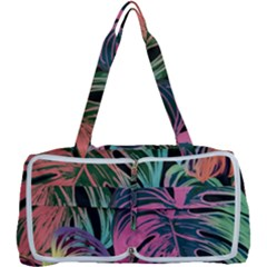 Leaves Tropical Jungle Pattern Multi Function Bag