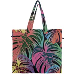 Leaves Tropical Jungle Pattern Canvas Travel Bag