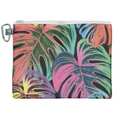 Leaves Tropical Jungle Pattern Canvas Cosmetic Bag (xxl)