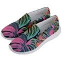 Leaves Tropical Jungle Pattern Men s Lightweight Slip Ons View2