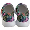 Leaves Tropical Jungle Pattern Women s Lightweight Slip Ons View4