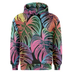 Leaves Tropical Jungle Pattern Men s Overhead Hoodie