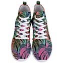 Leaves Tropical Jungle Pattern Men s Lightweight High Top Sneakers View1