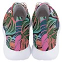 Leaves Tropical Jungle Pattern Men s Lightweight High Top Sneakers View4