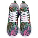 Leaves Tropical Jungle Pattern Women s Lightweight High Top Sneakers View1