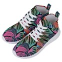 Leaves Tropical Jungle Pattern Women s Lightweight High Top Sneakers View2
