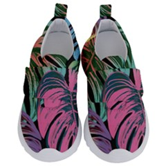 Leaves Tropical Jungle Pattern Velcro Strap Shoes