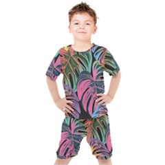 Leaves Tropical Jungle Pattern Kid s Set