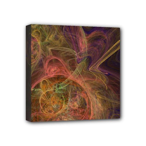 Abstract Colorful Art Design Mini Canvas 4  X 4  (stretched)