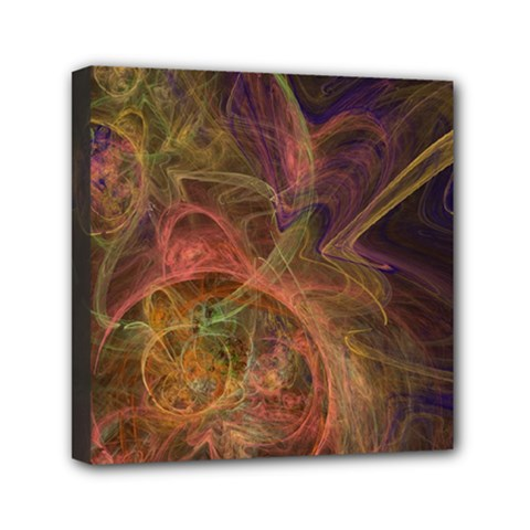 Abstract Colorful Art Design Mini Canvas 6  X 6  (stretched)
