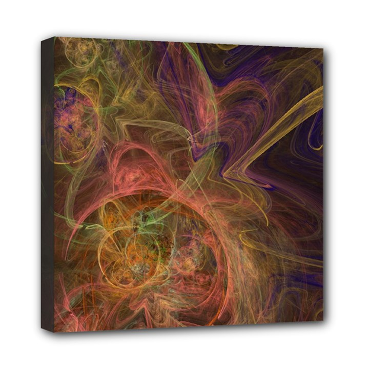 Abstract Colorful Art Design Mini Canvas 8  x 8  (Stretched)