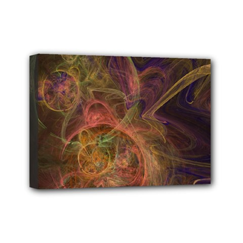 Abstract Colorful Art Design Mini Canvas 7  X 5  (stretched)